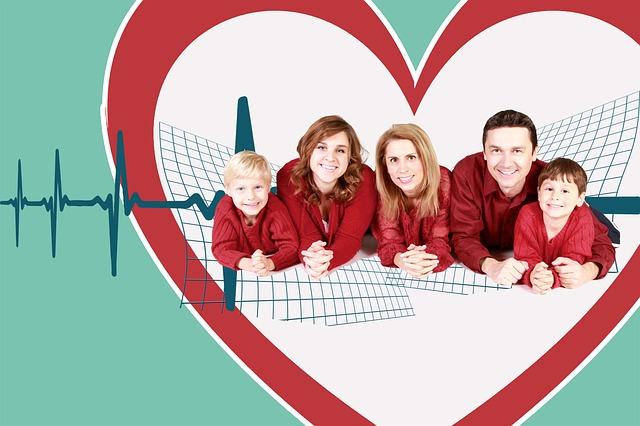 Versicherte Familie in der Krankenkasse